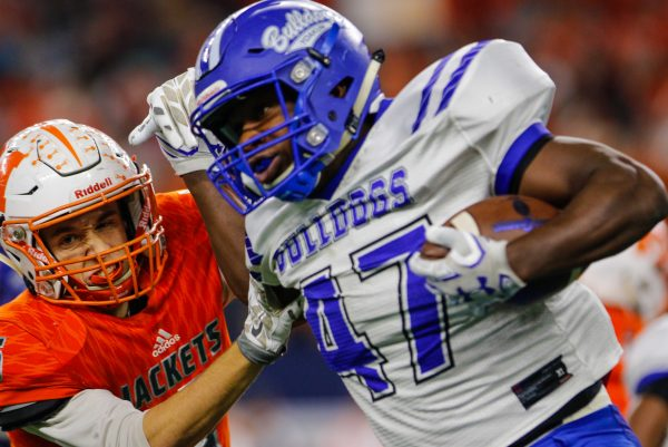 December 15, 2016 - Texas UIL 3A Div. I State Championship game between Mineola and Yoakum at AT&T Stadium in Arlington, Texas.  (Image Credit: John Glaser/texashsfootball.com)