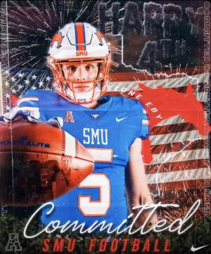 From Flower Mound to SMU: DE Stone Eby makes collegiate commitment official
